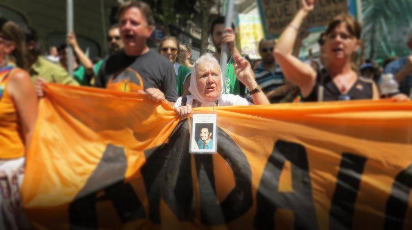 Nora Cortiñas, en la lucha del pueblo de Andalgalá