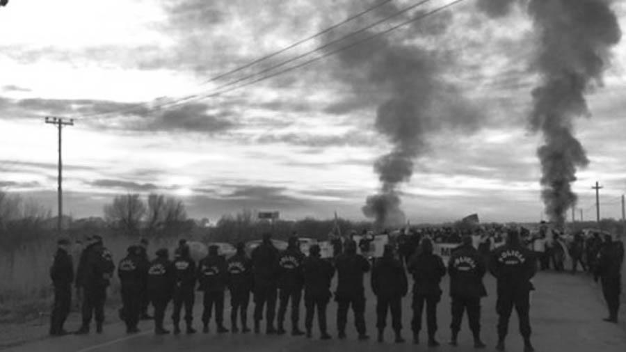 Represión policial Chubut