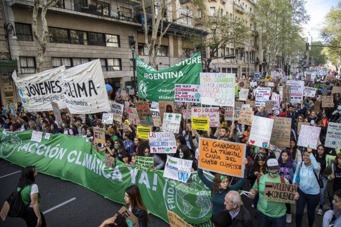 Marcha mundial contra el Cambio Climático en Argentina