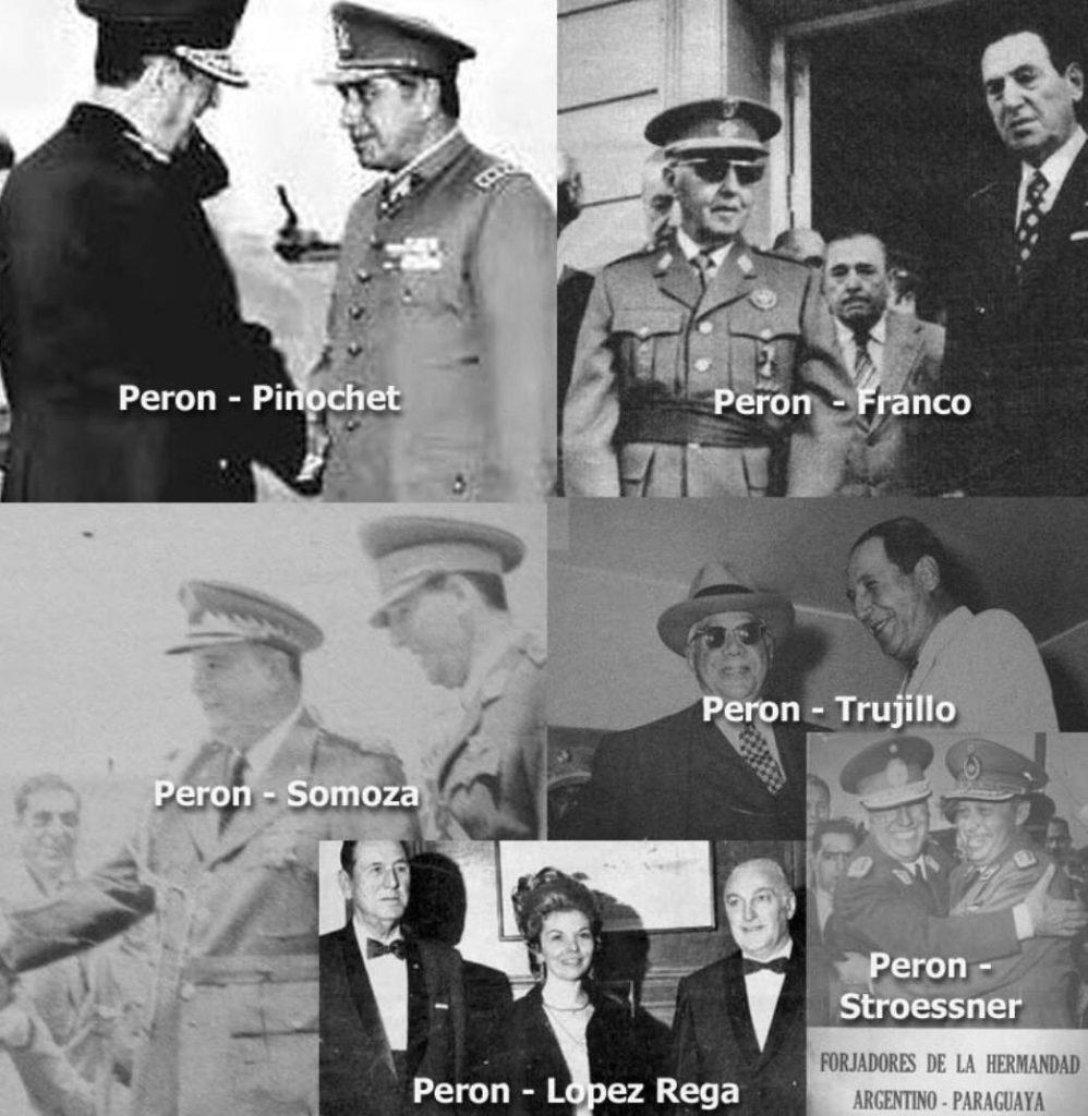 Perón con dictadores