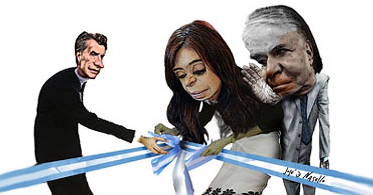 Ménem, Cristina y Macri